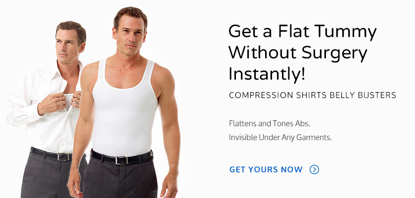 Get a flat tummy without surgery wearing Underworks Compression garments