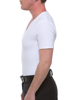 Underworks perfectly fitted White Cotton Concealer V-neck Girdle T-shirt