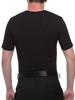 Underworks perfectly fitted Black Cotton Concealer V-neck Girdle T-shirt