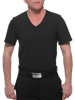 Underworks Manshape Black MagiCotton V-Neck Compression Shirt