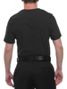 Manshape FTM Black MagiCotton V-Neck Compression Shirt flattens the tummy
